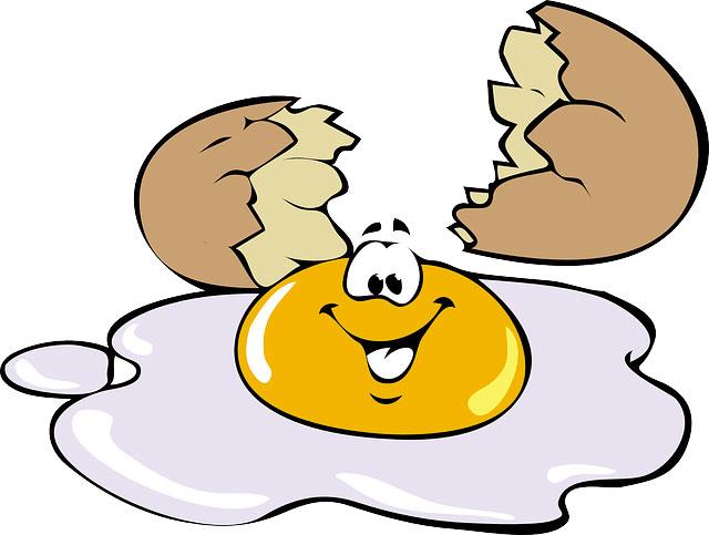 disegno uovo che ride