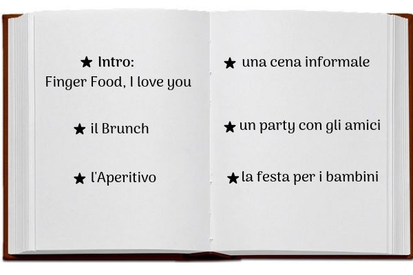 indice libro Finger food