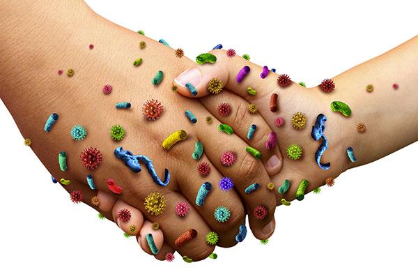 contaminazione crociata: mani sporche